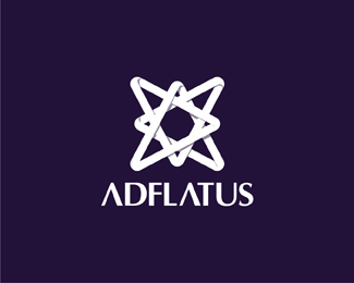 Adlfatus interior design studio reversed logo design by Alex Tass