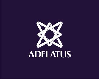 Adlfatus interior design studio reversed logo design by Alex Tass
