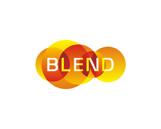 Blend consulting color logo design by Alex Tass