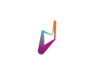 Dynamic D symbol logo design by Alex Tass