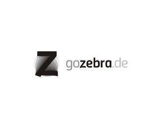 Go Zebra truck rental moving company c logo design by Alex Tass