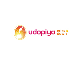 Udopiya Dusk and Dawn, electronic dance music records label, logo design by Alex Tass