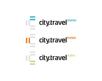 city travel agency sub-branding logo design by Alex Tass