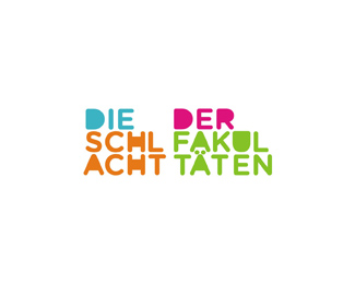 die schlacht der fakultaten competition word mark logo design by Alex Tass