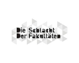 die schlacht der fakultaten geometric logo design by Alex Tass