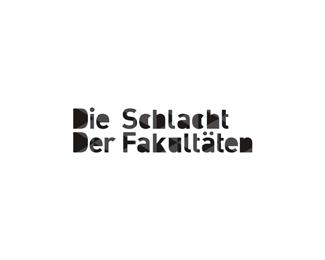 die schlacht der fakultaten geometric typographic logo design by Alex Tass