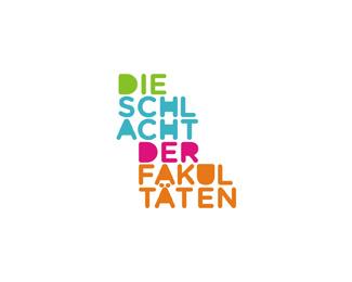 die schlacht der fakultaten logotype logo design by Alex Tass