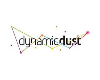 dynamic dust games applications development studio logo design by Alex Tass