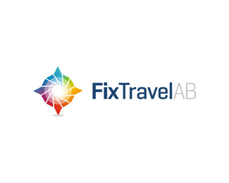 fix travel ab business corporate travel agency logo design by Alex Tass
