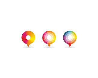 fix travel business corporate travel agency pins symbols logo design by Alex Tass