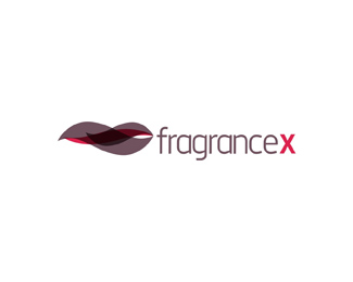 fragrance x online store brand name fragrances b logo design by Alex Tass