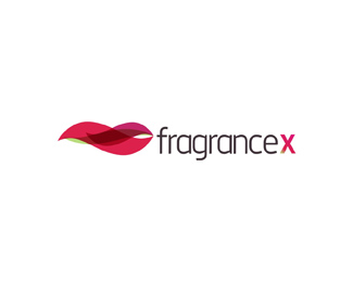 fragrance x online store brand name fragrances d logo design by Alex Tass