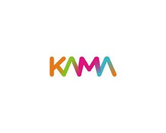kama foods colorful gradient logo design by Alex Tass
