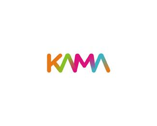 kama foods colorful gradient logo design by Alex Tass