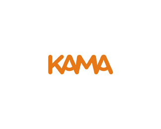 kama foods logo design by Alex Tass
