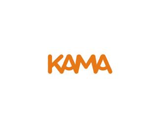 kama foods logo design by Alex Tass