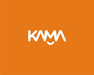kama foods smile logo design by Alex Tass