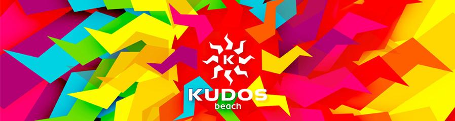 kudos beach bar club terrace 2013 logo redesign refresh rebranding presentation logo design by Alex Tass