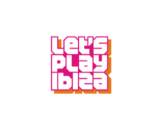 let's play ibiza edm party events portal logo design by Alex Tass
