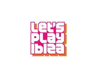 let's play ibiza edm party events portal logo design by Alex Tass