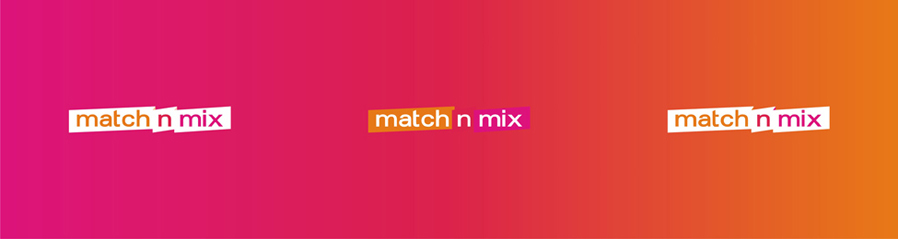 match n mix dating platform portal website reversed logo design by Alex Tass