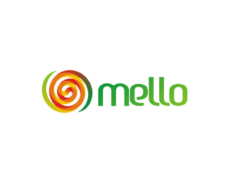 mello natural melon based juice logo design by Alex Tass