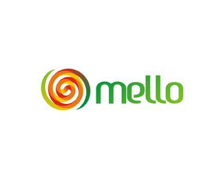 mello natural melon based juice logo design by Alex Tass