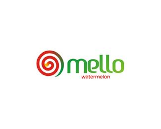 mello natural watermelon based juice logo design by Alex Tass