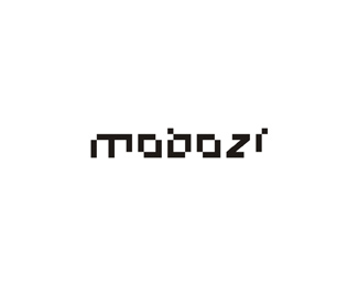 mobozi web and mobile software developer abstract typographic logo design by Alex Tass