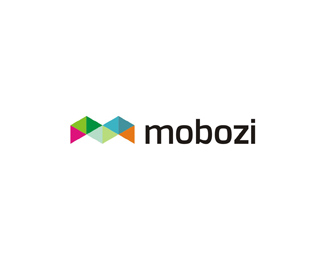 mobozi web and mobile software developer color logo design by Alex Tass