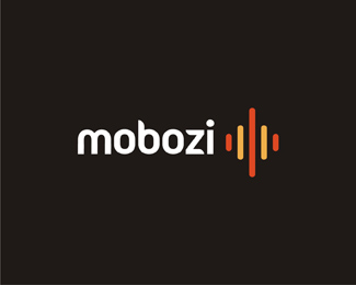 mobozi web and mobile software developer reversed logo design by Alex Tass