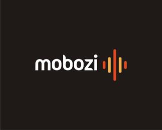 mobozi web and mobile software developer reversed logo design by Alex Tass