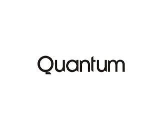 quantum experimental logotype word mark logo design by Alex Tass