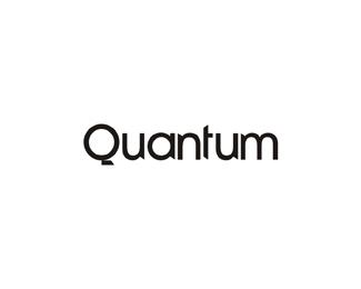 quantum experimental logotype word mark logo design by Alex Tass