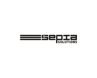 sepia solutions a video on demand digital asset management service logo design by Alex Tass