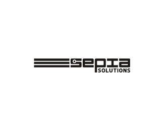 sepia solutions a video on demand digital asset management service logo design by Alex Tass