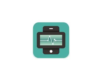 stat mobile telehealth health diagnostics application symbol logo design by Alex Tass