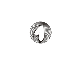 the one dot fm radio circle black logo design by Alex Tass