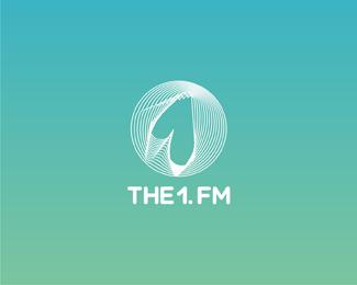 the one dot fm radio circle reversed logo design by Alex Tass