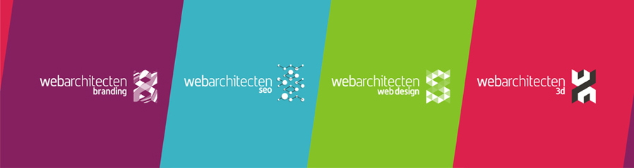 web architecten advertising agency sub-branding branding, seo, web design, 3d, reversed logo design by Alex Tass
