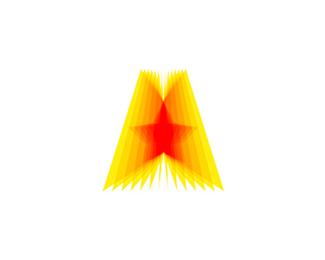 a star icon logo design symbol by alex tass