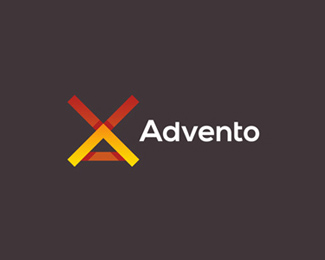 advento in-game advertising logo design by alex tass