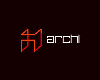 archi architecture logo design by alex tass