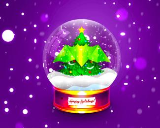 bat christmas globe logo design symbol by alex tass