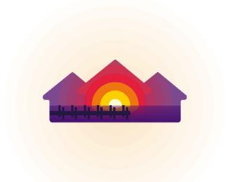 bay golf dock pontoon homes residences flat logo design by alex tass