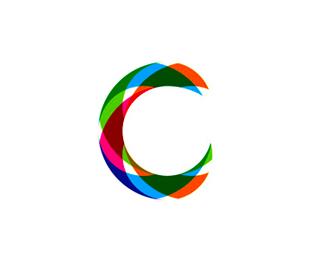 c colorful abstract modern monogram logo design symbol by alex tass
