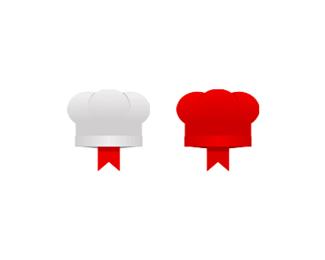 chef recipes foods bookmark logo design symbol by alex tass