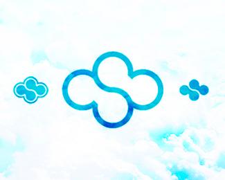 cloud sky computing hosting logo design symbol by alex tass