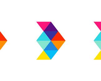 d arrow plane logo design symbol by alex tass