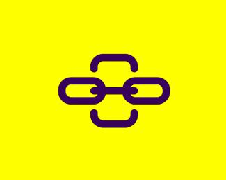 friend chain character mobile app logo design by alex tass
